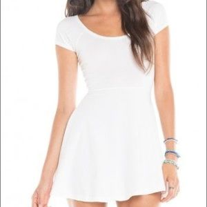 White Brandy Melville Dress: Bethan
